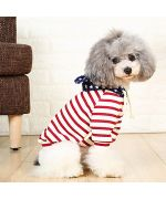 Sweater For dog striped - navy Blue and white