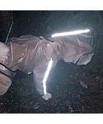 reflective rain coat for large dog