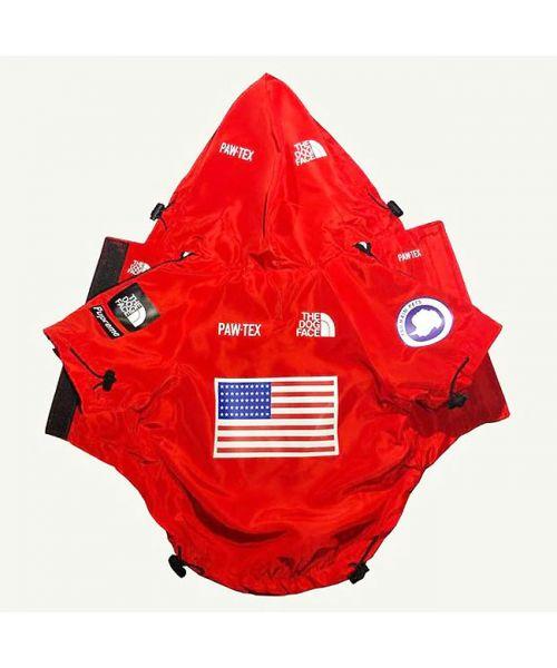 manteau pour chien rouge de pluie