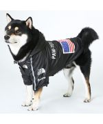 black quality dog rain coat