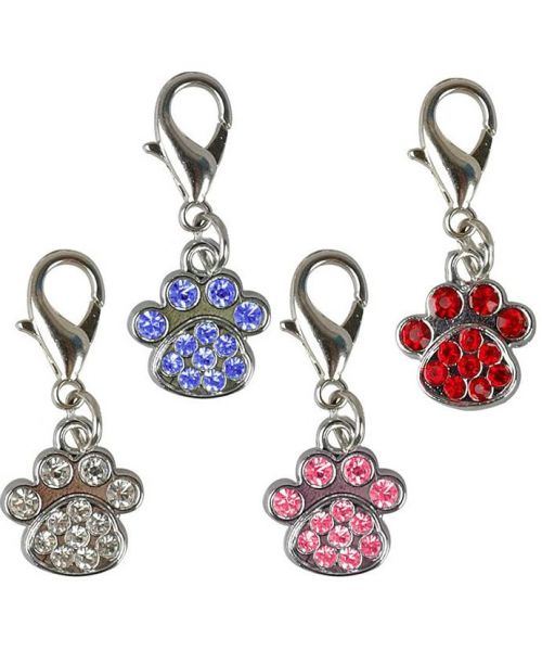 pendentif patte strass pour animaux