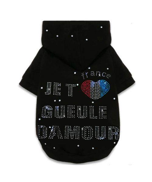 "Provider hoody sweater rhinestone ""Mouth love"" to dog and cat accessory, rhinestone pet collars crystal"