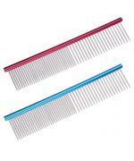 comb metal for dog and cat pink