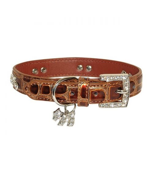 Padded croco patent leather, rhinestone dog luxury high quality delivery switzerland, italy, belgium, canada, dom tom,