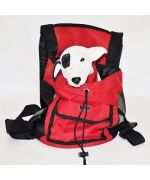 small red dog carrier bag