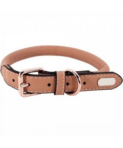 Collar rhinestone dog - brown (20 to 35 cm)