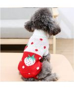 dog sweater with strawberry