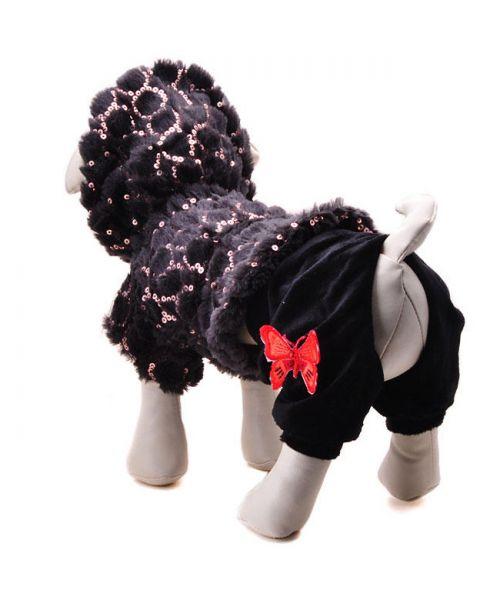 plush dog coat