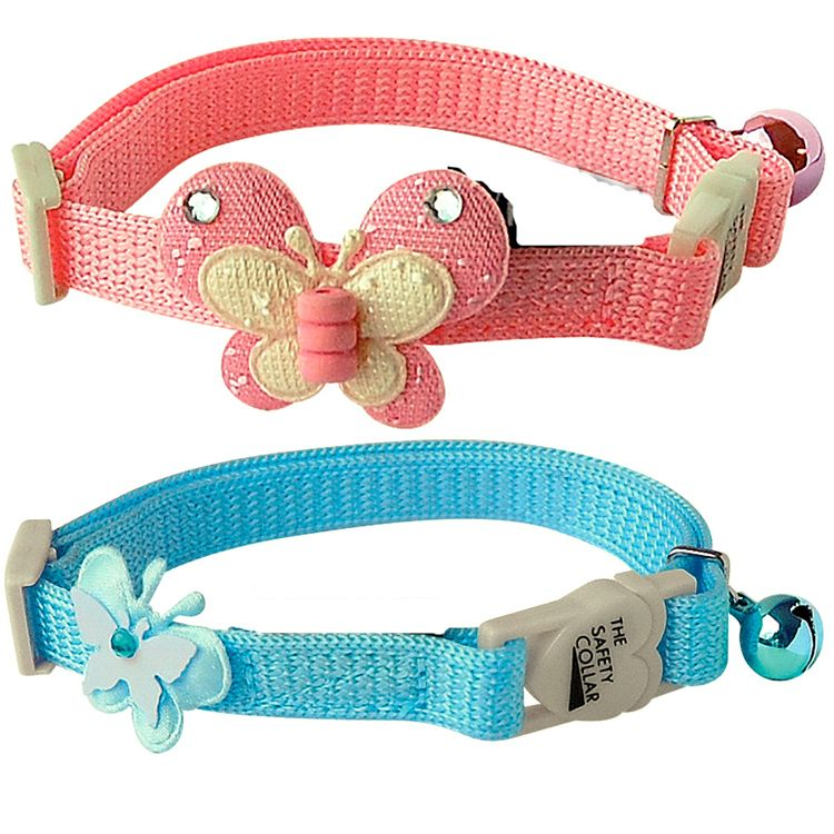 Collier pour chat rose