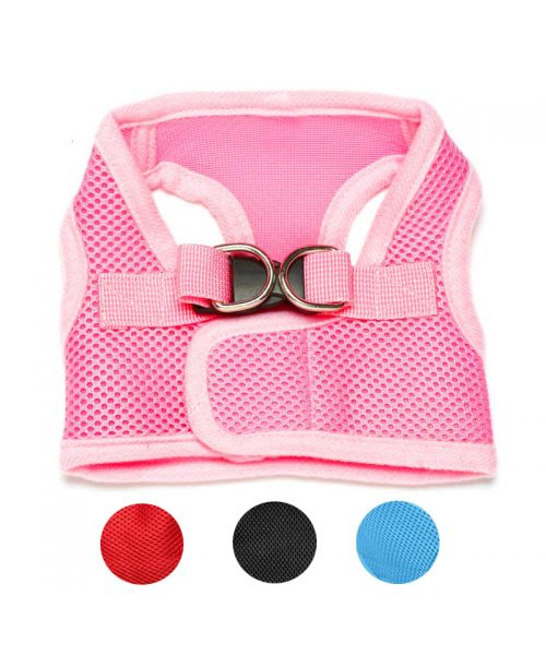 harness t-shirt for dog pink