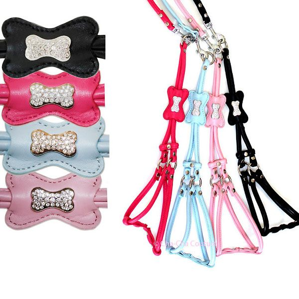 dog harness is light pink with rhinestones cheap free shipping dom tom, belgium, switzerland