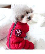 tenue de neige chaude pour chien