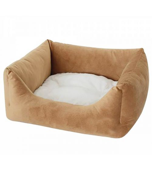 beige basket for small dogs