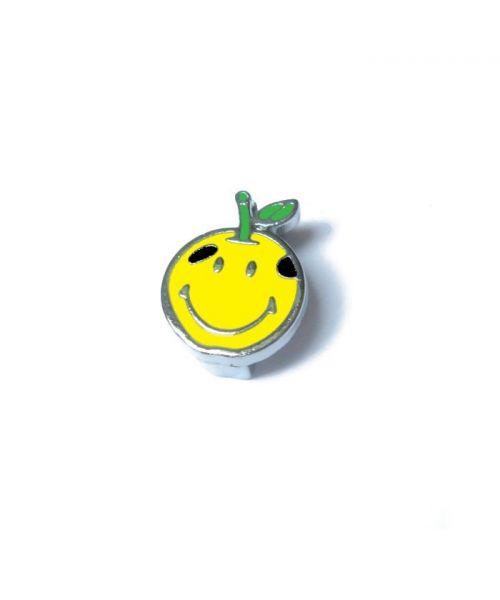 Smiley 10 mm pour collier ou harnais personnalisable pour animaux de compagnie