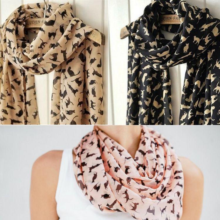 foulard pour femme chat