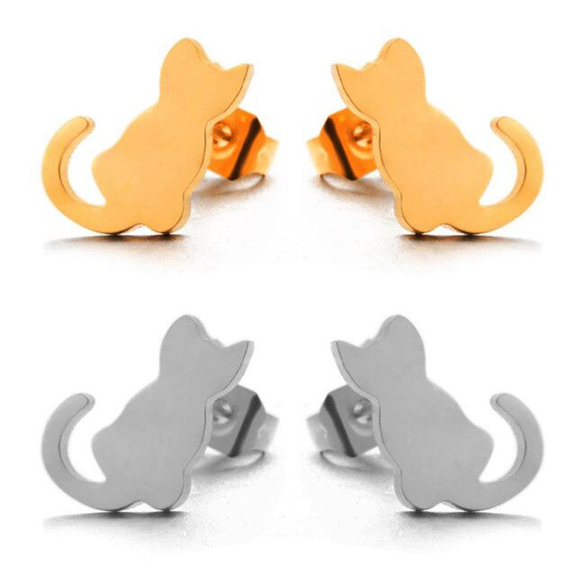 cat earring for little girl