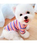 striped dog tshirt