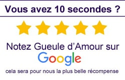 Rate our business Gueule d'Amour on Google ! A big thank you in advance !