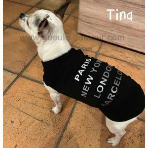Débardeur pour chien noir Traveler